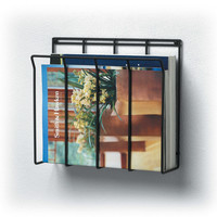 Wall Mount Wire Magazine Rack & Newspaper Caddy