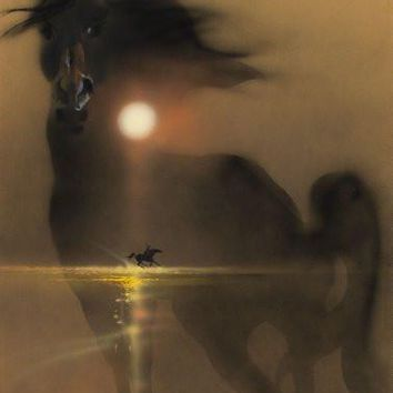 Black Stallion Movie Poster Standup 4inx6in