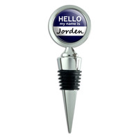 Jorden Hello My Name Is Wine Bottle Stopper