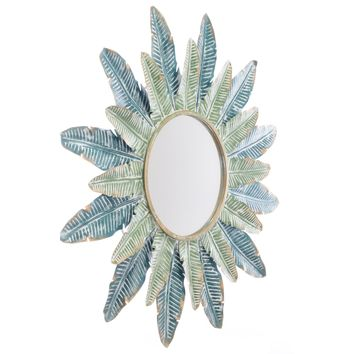 Green Tropic Wall Mirror