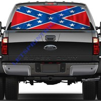 Standard Confederate Flag-Rear Window Decal-Graphic