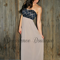 HE LOVES ME MOCHA CHIFFON MAXI DRESS