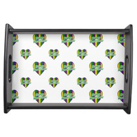 Happy Mardi Gras Logo Serving Tray