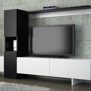 KAOS TV unit with storage and wall shelving