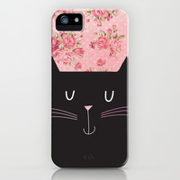 Happy Cat iPhone & iPod Case by Sara Eshak
