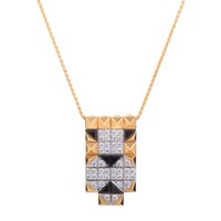 Enigma by Bulgari Multi-Gold Diamond and Onyx Lioness Pendant Necklace