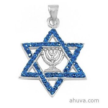 Pendant Star Of David And Menorah