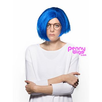 Sad-Blue Full Wig
