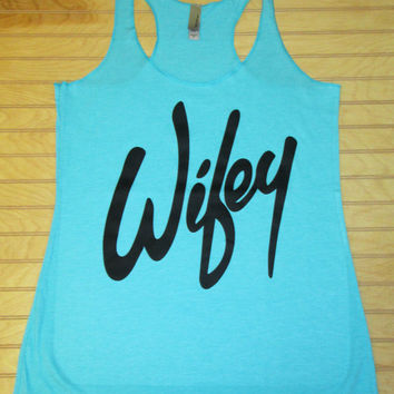 Women's Tri Blend Racerback Tank Top Wifey