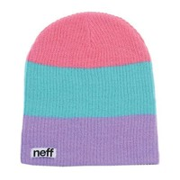 neff Men's Trio Beanie, Pastel, One Size