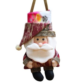 1 Pcs Christmas Gift Bag Santa Claus Snowman Elk Xmas Decoration Ornament Christmas Decor supplies #30