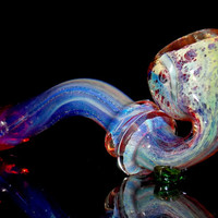 Fumed Amber Purple Red Glass Sherlock Free Standing Smoking Pipe - Long Gandalf Color Changing Bowl