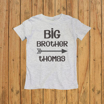 Personalised Big Brother Shirt. big brother announcement shirt. big brother t shirt. big brother gift. boys personalized shirt.