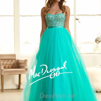 Strapless Sweetheart Prom Ball Gown By Mac Duggal 48261H