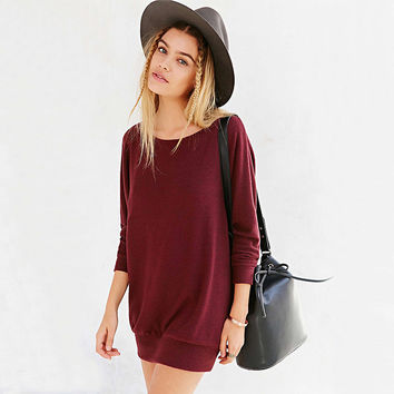 Plain Long-Sleeve Pullover Dress Shirt