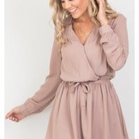 Lost Time playsuit in mocha