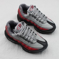 Nike Air Max 95 Child Shoes Grey Black Red Toddler Kid Shoes - Best Deal Online