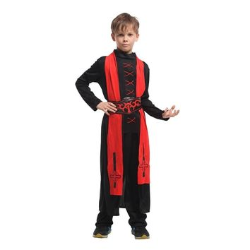 Umorden Purim Children's Day Halloween Costumes for Boys Kids Magician Wizard Costume Magic Student Cosplay Red Black Robe Gown