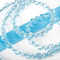 FabuLeash Jewel Collection Beaded Dog Leash - Aqua Blue