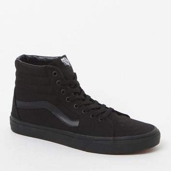 Vans SK8-Hi Black Canvas Shoes - Mens Shoes - Black/Black