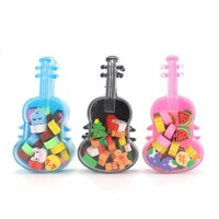 Cute Rubber Violin Shape Eraser Kid Gift School Supplies Stationery