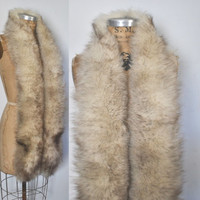 Fox Fur Wrap Collar / silver scarf / bridal wedding