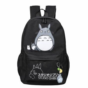 School Backpack trendy Lovely Totoro pokemon Canvas Backpacks Student School Bag Cartoon Print Rucksack Travel Pack Laptop Bag Big Strong Backpack AT_54_4