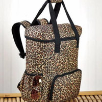 Backpack Insulated Cooler Tote Large Portable Leopard Print Picnic Sports Camp