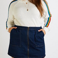Plus Size Rainbow Striped Sweater | Charlotte Russe
