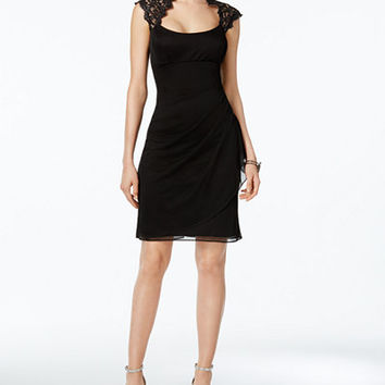 X By Xscape Lace-Trim Sheath Dress - Dresses - Women - Macy's