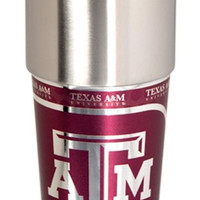 Texas A&M Aggies 16 ounce Travel Tumbler with Metallic Graphics