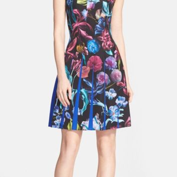 Ted Baker London Edelfi Floral Pleated Dress