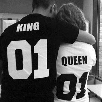 ONETOW QUEEN KING Print T-Shirts Tee for Women Men Lover 2