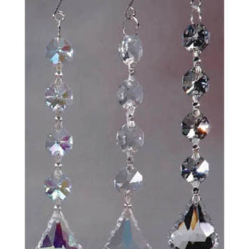 Gemstone Hanging Crystals Chandelier, 6-1/4-inch, Iridescent Clear