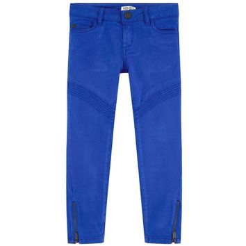 Kenzo Girls Slim Fit Blue Pants with Zippers