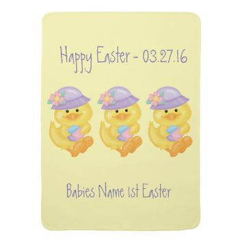 Cute Yellow Easter Ducks, Baby Blanket