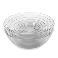 10-Piece Tempered Glass Nesting Prep Bowl Set