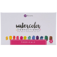 NEW! Prima Marketing Watercolor Confections Watercolor Pans 12/Pk-Tropicals