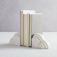 Marble Cloud Bookends