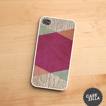 iPhone 5 Case Wood Geometric iPhone 5S Case, iPhone 4/4S Case, iPhone 5C Case