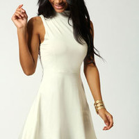 Jess High Neck Sleeveless Skater Dress