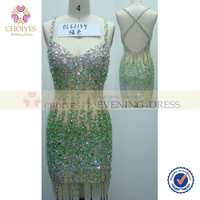 online shop DL62139 Mint backless spaghetti strap see through crystal beaded party dress, View see through crystal beaded party dress, CHOIYES party dress Product Details from Chaozhou Choiyes Evening Dress Co., Ltd. on Alibaba.com
