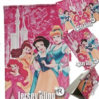 HOT Pink PRINCESS Case & Gift Set iPad Mini Faux Leather PVC Case with FREE Stylus & Disney Princess Gift Item