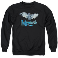 LABYRINTH/TITLE SEQUENCE - ADULT CREWNECK SWEATSHIRT - BLACK -