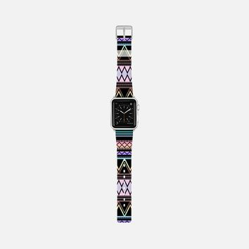 Cotton Candy Rainbow Tribal Black Apple Watch Band (38mm) by Organic Saturation | Casetify