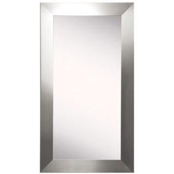 Tall Stainless Silver Grain 32 x 71-inch Wall Mirror | Overstock.com Shopping - The Best Deals on Mirrors