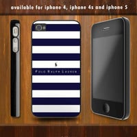 Polo Ralph Lauren Blue Stripes iPhone 4 case by verticalstore