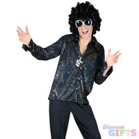 Men's Costume Shirt: Boogie Nights-Medium