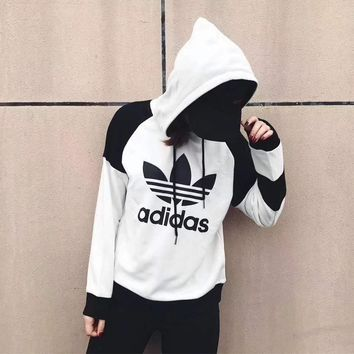 "Womens ""Adidas"" Print Hoodies Top Sweater Pants Sweatpants Set Two-Piece Sportswear"