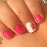 Awareness ribbon nail decals
